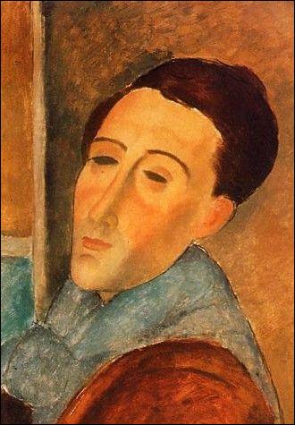 Le peintre auteur de cet autoportrait en 1919, c'est ... Modigliani.