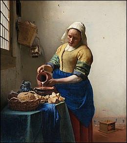 """Les amateurs de mousse au chocolat d'une marque célèbre auront reconnu """"La Laitière"""", huile sur toile réalisée vers 1658 par..."""