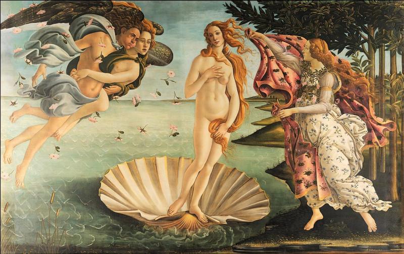 """Cette peinture mythologique, """"La Naissance de Vénus"""", réalisée dans les années 1480 et visible au musée des Offices de Florence est l'œuvre de..."""