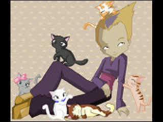 Qui est cette personne pensif et rêveuse qui attire les chats ?