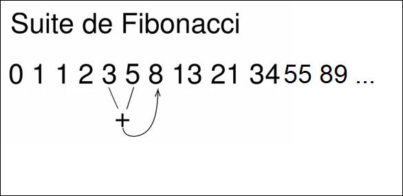 Intelligence, quand tu nous tiens ! La suite de Fibonacci est une suite de nombres entiers dans laquelle chaque terme est la somme des deux termes précédents. Quelle est la suite logique se trouvant sur la photo ci-dessus ?