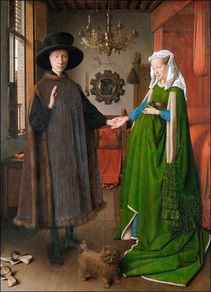 """Complétez le titre de ce tableau peint par le flamand Jan Van Eyck en 1434 : """"Les ... Arnolfini""""."""