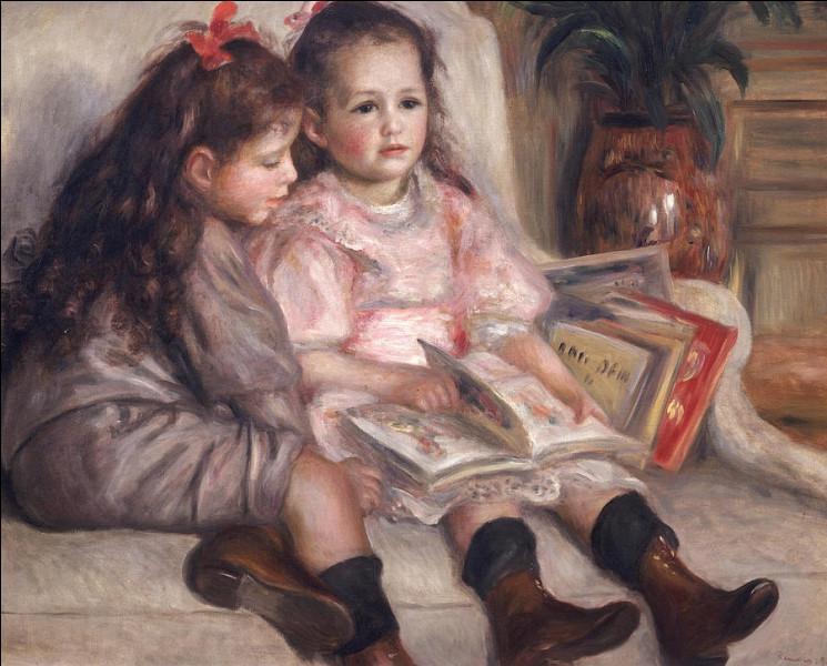 """Qui a peint """"Deux enfants avec un livre"""" ?"""
