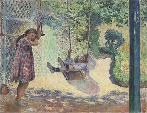 """Quel peintre est l'auteur du tableau """"La Balançoire"""" ?"""