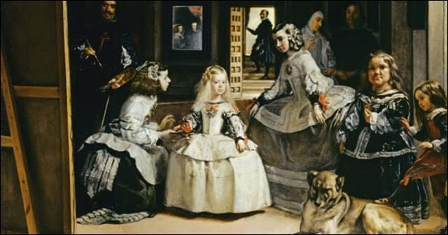 """Dans le tableau de Vélasquez """"Les Ménines"""", on peut voir à l'arrière-plan le roi d'Espagne Philippe IV et son épouse qui n'est autre que..."""