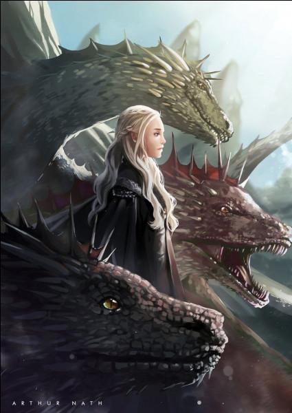 Quel est le dragon que Daénèrys monte le plus souvent ?