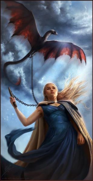 Quel est le mot qu'utilise Daénèrys pour ordonner à ses dragons de voler ?