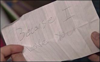 """""""Because I love you"""" : Quel couple cette phrase représente-elle ?"""