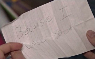 "* ""Because I love you"", de quel film ou série est tirée cette phrase ?"