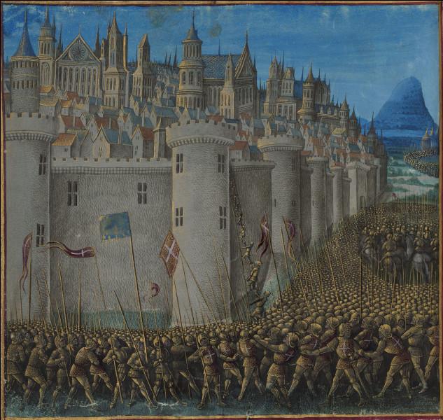 Cette ville, alors l'une des plus grandes du proche orient, a été assiégée et conquise par les croisés, le 2 juin 1098, après un siège de 8 mois. Ils en font la capitale d'une principauté franque. La prise de la ville s'accompagne de massacres des Turcs et aussi des chrétiens orientaux par les Croisés. De quelle ville s'agit-il ?