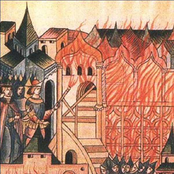 Cette ville russe sur la Volga, à la tête d'une principauté, révoltée en 1327 contre la domination des Mongols a été pillée et incendiée, sa population massacrée et les survivants déportés comme esclaves. La ville cesse de jouer un rôle important dans l'histoire de la Russie. Il s'agit de ...