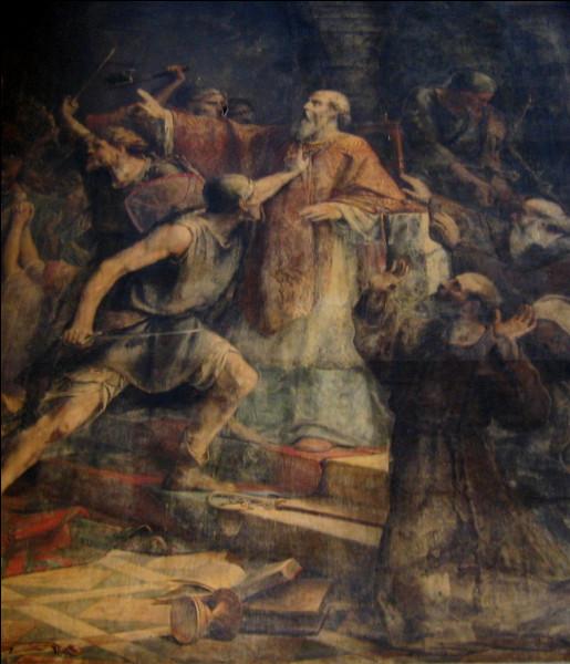 Nantes a été la deuxième ville du royaume Franc, après Rouen, à être dévastée par les Vikings : la ville est prise, mise à sac, l'évêque est tué dans la cathédrale. En quelle année était-ce ?