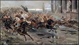 Au printemps 452, Aquilée, importante cité d'Italie du nord, est prise après un long siège, ravagée et rasée ; Padoue, Vérone et Milan sont pillées à leur tour. Qui ravage ces villes ?