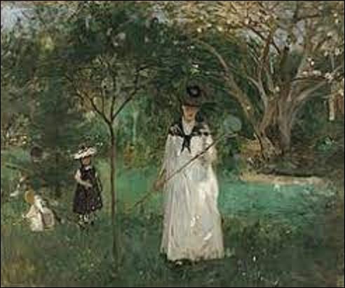 Quelle impressionniste a immortalisé cette scène sur cette toile intitulée ''La Chasse aux Papillons'' en 1874 ?