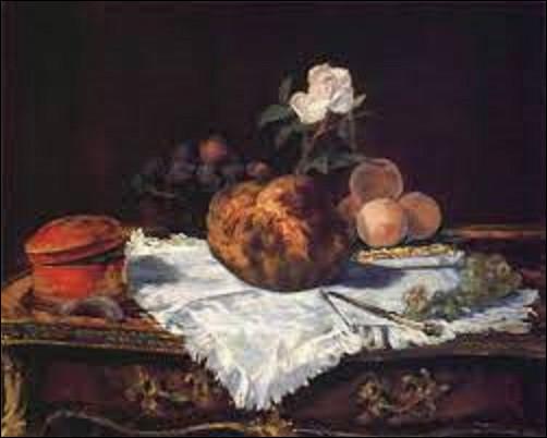 En 1870, quel impressionniste et réaliste a peint cette toile intitulée ''La Brioche'' ?