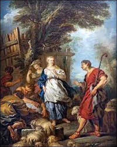 À quel peintre rococo doit-on ce tableau nommé ''Jacob et Rachel au puits'' en 1720 ?