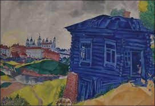 Quel peintre a réalisé cette toile intitulée ''La Maison bleue'' en 1920 ?