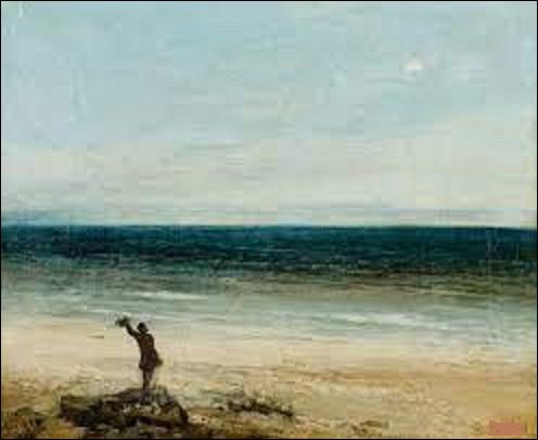 Huile sur toile datant de 1854, ''Le Bord de mer à Palavas'' est un tableau d'un réaliste. Qui en est l'auteur ?