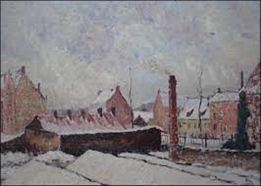 ''Neige à Bruges'' est un tableau réalisé en 1910 par un postimpressionniste belge. Parmi ces trois peintres, lequel a exécuté cette toile ?