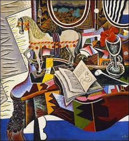 Pourriez-vous me donner le nom de ce surréaliste qui a réalisé cette nature morte en 1920, intitulée ''Le Cheval, la pipe et la fleur rouge'' ?