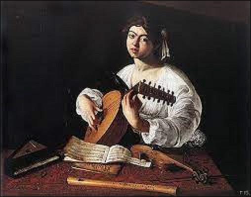 Peint entre 1595 et 1596, ''Le Joueur de luth'' est un tableau réalisé par un baroque qui se nomme :
