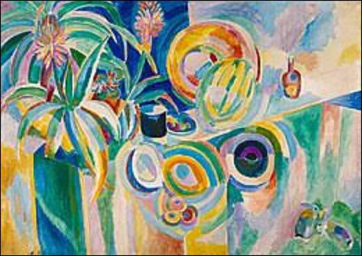 À qui doit-on ce tableau datant de 1917 intitulé ''Symphonie colorée'' ?