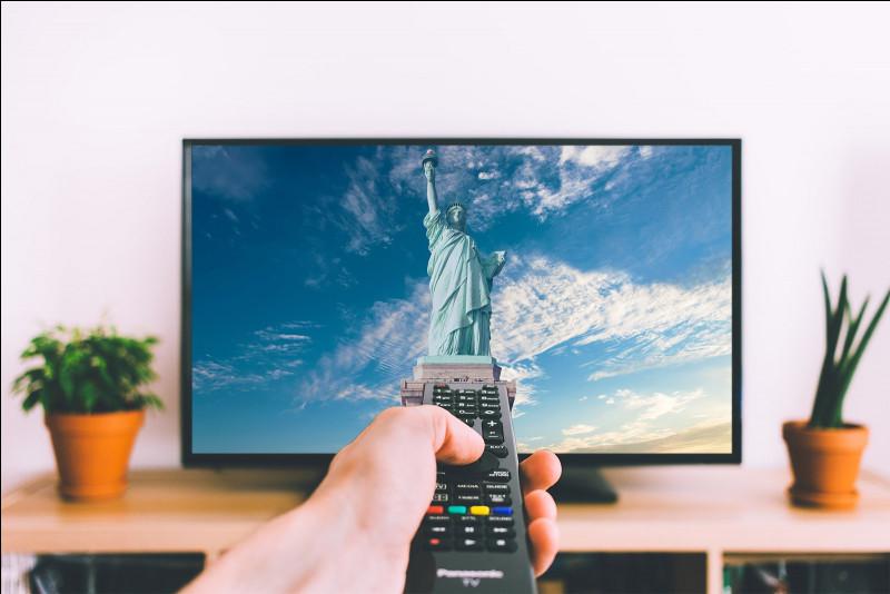 """La télé est """"bleue"""" mais elle est petite."""