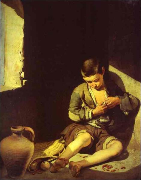 Quel peintre espagnol a réalisé 'Le jeune mendiant' ?