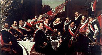 Quel peintre hollandais a réalisé 'Le banquet des officiers du corps des archers' ?