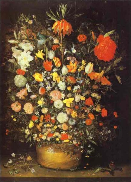 Quel peintre flamand a réalisé 'Fleurs dans un vase' ?