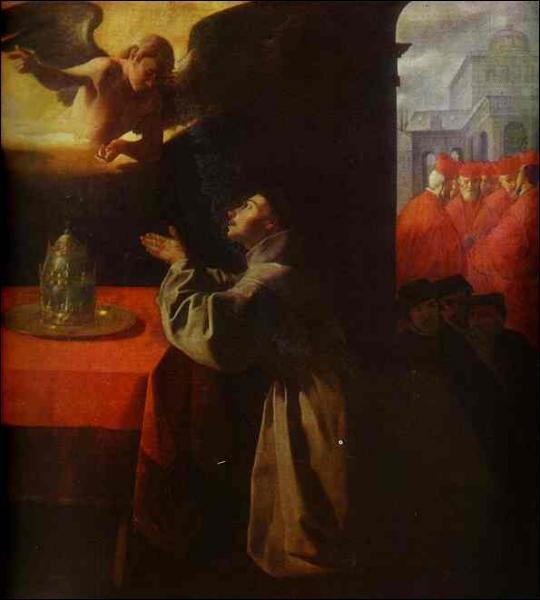 Quel peintre espagnol a réalisé 'Saint Bonaventure en prière' ?