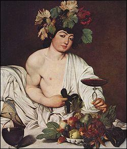 Quel peintre italien a réalisé 'Bacchus' ?