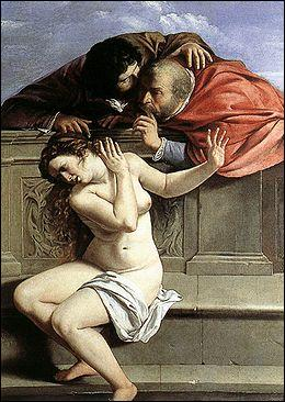 Quel peintre italien a réalisé 'Suzanne et les vieillards' ?