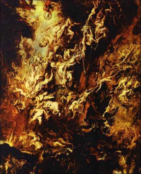 Quel peintre flamand a réalisé 'La chute des anges rebelles' ?