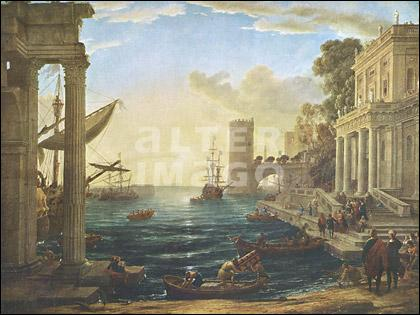 Quel peintre français a réalisé 'Embarquement de la reine de Saba' ?