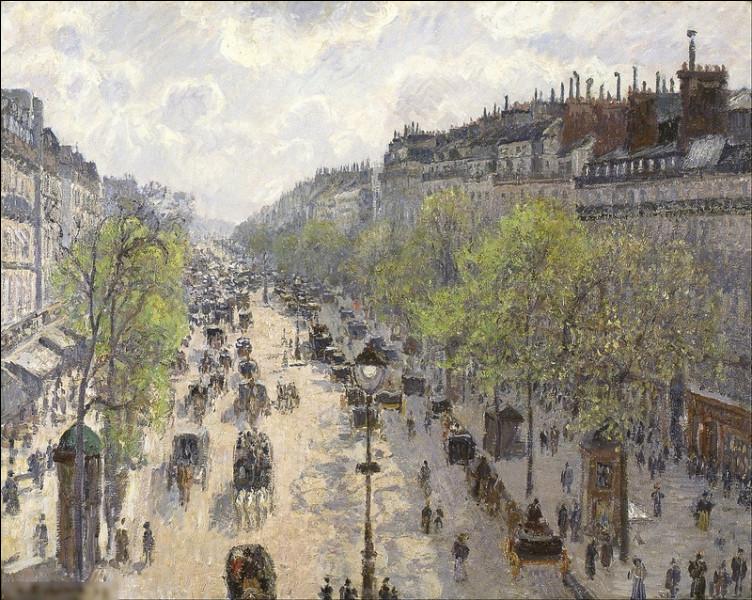 """Quel peintre est l'auteur du tableau """"Boulevard Montmartre : Effet de printemps"""" ?"""
