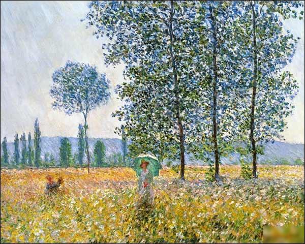 """Quel peintre est l'auteur du tableau """"Champs au printemps"""" ?"""