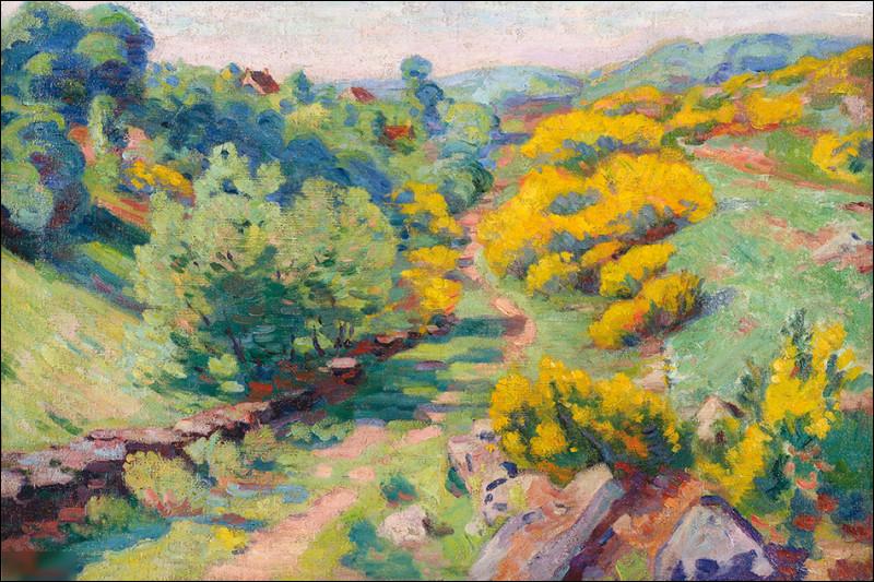 """Qui a peint """"Vue de Crozant au printemps"""" ?"""