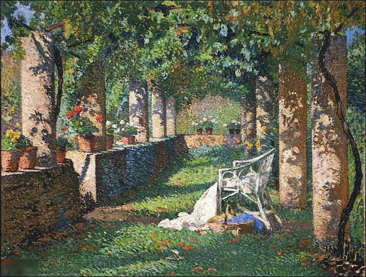 """Quel pointilliste a peint """"Le Pergola au printemps"""" ?"""