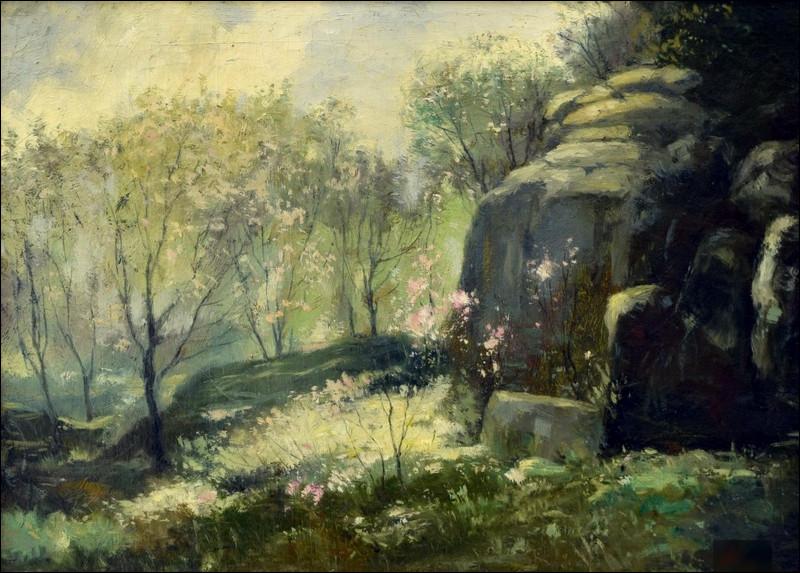 """Qui a peint """"Paysage de printemps"""" ?"""
