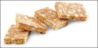 Quel est le nom de ces petits gâteaux proches du pain d'épices, à base de miel, de fruits confits et d'amandes ?