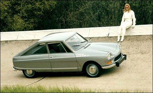 Son apparence un peu hybride sur une base d'Ami 8 Citroën resta confidentiel. Quelle est cette auto produite à 267 exemplaires ?