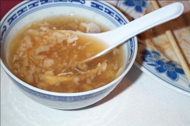 Quel est ce mets de luxe de la cuisine chinoise et vietnamienne, une soupe à base de mucus mucilagineux de martinets ?