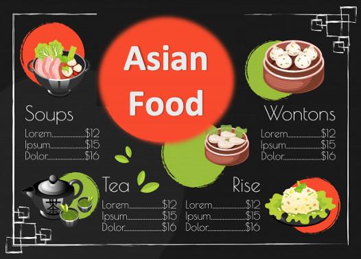 Mets d'Asie