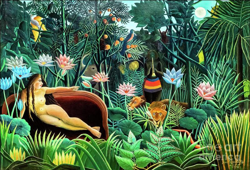 """Comment était dit Henri Rousseau auteur du tableau """"Le Rêve"""" ?"""