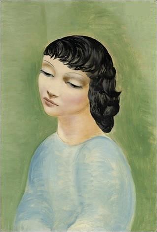 """Qui est l'auteur du tableau """"Jeune fille au corsage bleu"""" ?"""