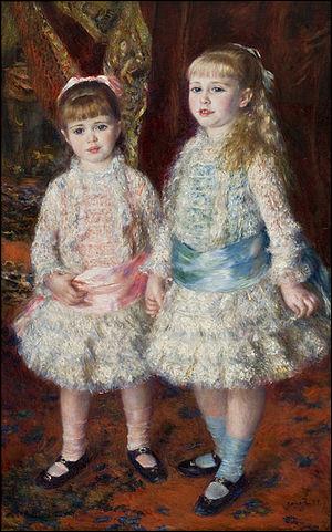 """Qui a peint cette toile """"Rose et Bleu"""" représentant Mesdemoiselles Cahen d'Anvers ?"""