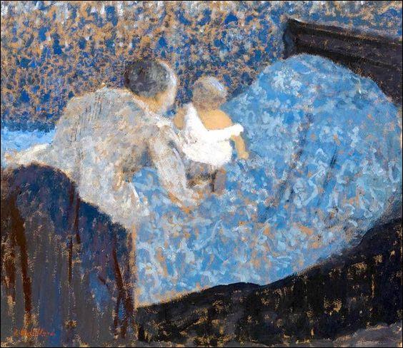 """Qui a peint """"Grand-Mère et enfant au lit bleu"""" ?"""