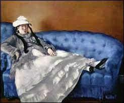 """Qui a représenté cette """"Femme sur un canapé bleu"""" ?"""