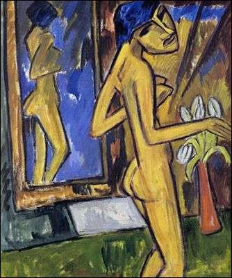 """Qui a peint """"Jeune femme au miroir"""" ?"""